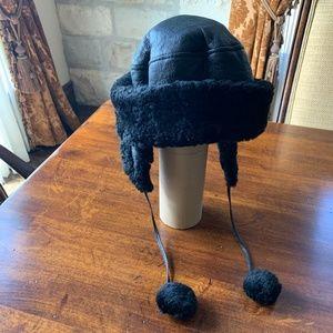 Black Sheepskin Hat